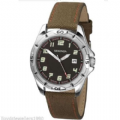 Sekonda 3731 Gents Quartz Analogue Canvas Strap Sports Watch
